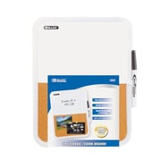 Bazic Wall Mounted Combination Whiteboard, 1' H x 1' W; Case of 12