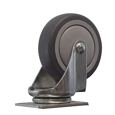 Snap-Loc 4'' Thermoplastic Rubber Swivel Caster