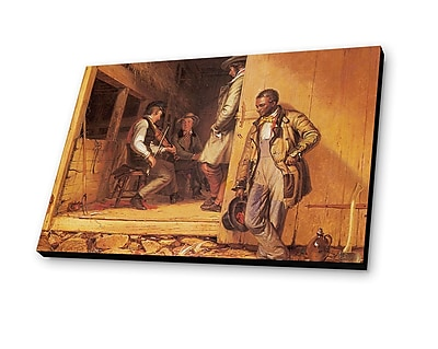 Lamp-In-A-Box The Power of Music 1847 by William Sidney Mount Painting Print Plaque