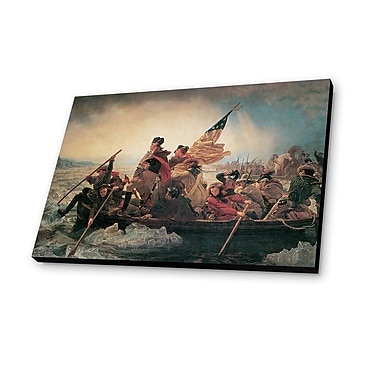 Lamp-In-A-Box Washington Crossing the Delaware 1851 by Emanuel Leutze Painting Print Plaque