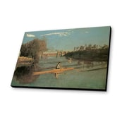 Lamp-In-A-Box Max Schmitt in a Single Scull 1871 by Thomas Eakins Painting Print Plaque