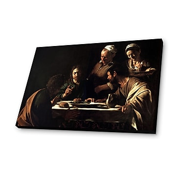 Lamp-In-A-Box Supper at Emmaus 1606 by Caravaggio Painting Print Plaque