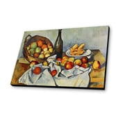 Lamp-In-A-Box Still Life w/ Bottle and Apple Basket 1893 by Paul Cezanne Painting Print Plaque