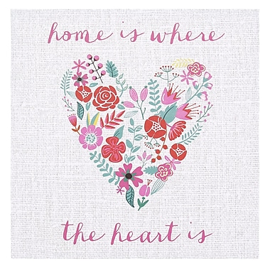 Stratton Home Decor ''Home'' Graphic Art on Canvas