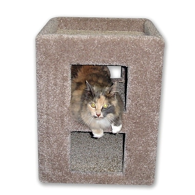 BeatrisePetProducts 21'' Fat Cat Kitty Cube Cat Condo