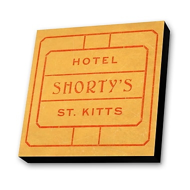 Lamp-In-A-Box Shorty's St. Kitts, West Indies Textual Art Plaque