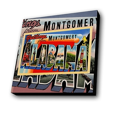 Lamp-In-A-Box Greetings from Montgomery Alabama Graphic Art Plaque
