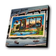 Lamp-In-A-Box Greetings from Maine Graphic Art Plaque