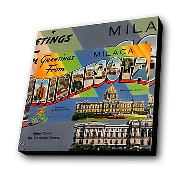 Lamp-In-A-Box Greetings from Minnesota Graphic Art Plaque