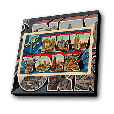 Lamp-In-A-Box Greetings from New York Graphic Art Plaque