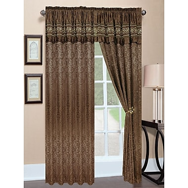 Regal Home Collection Charity Jacquard Single Curtain Panel