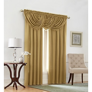 Regal Home Collection Emerald Crepe Curtain Panel (Set of 2)