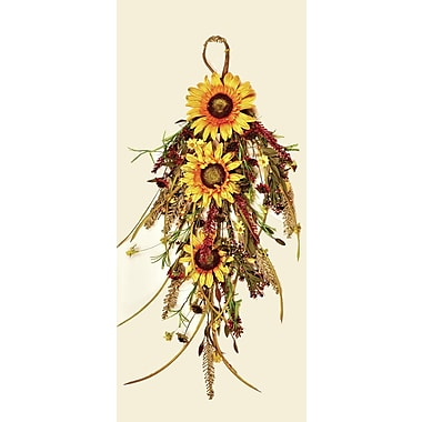 Worth Imports Mixed Fall Sunflower Teardrop