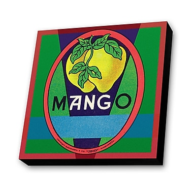 Lamp-In-A-Box Mango Vintage Advertisement Plaque