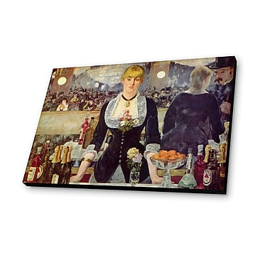 Lamp-In-A-Box Bar at the Folies Bergeres 1882 by Edouard Manet Painting Print Plaque