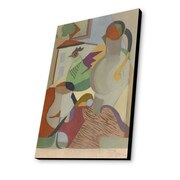 Lamp-In-A-Box Pitcher, Hen and House 1927 by Jean Metzinger Painting Print Plaque