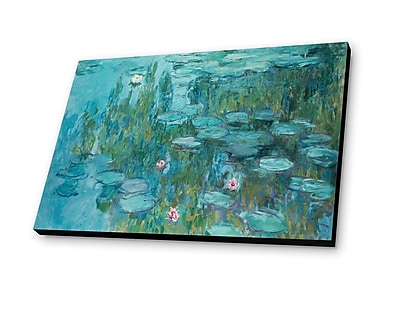Lamp-In-A-Box Water Lillies 1915 by Claude Monet Painting Print Plaque