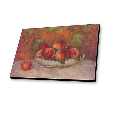 Lamp-In-A-Box Still Life w/ Peaches by Pierre-Auguste Renoir Painting Print Plaque