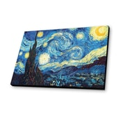 Lamp-In-A-Box Starry Night 1889 by Van Gogh Painting Print Plaque