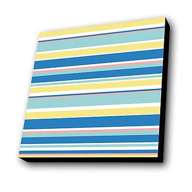 Lamp-In-A-Box Summer Stripes Graphic Art Plaque