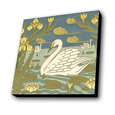 Lamp-In-A-Box Swans Graphic Art Plaque