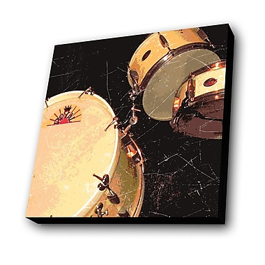 Lamp-In-A-Box Drums Graphic Art Plaque