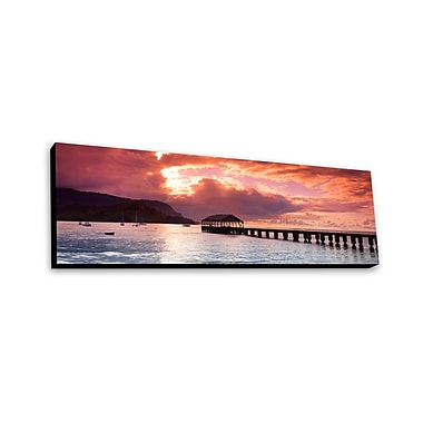 Lamp-In-A-Box Hanalei Pier by Sean Davey Photographic Print Plaque