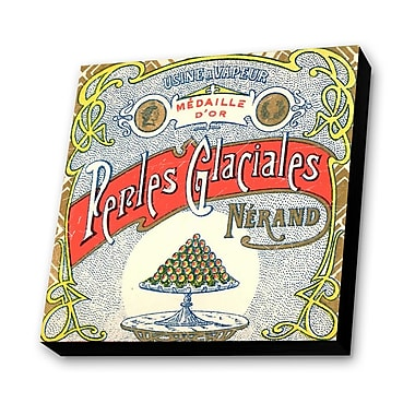 Lamp-In-A-Box Glaciales Vintage Advertisement Plaque