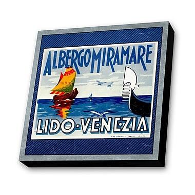 Lamp-In-A-Box Lido Venezia, Italy Vintage Advertisement Plaque