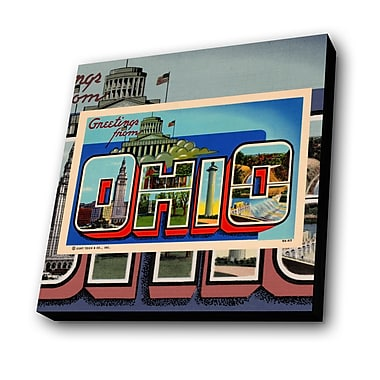 Lamp-In-A-Box Greetings from Ohio Graphic Art Plaque