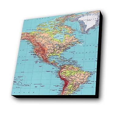 Lamp-In-A-Box 1970 Map 1 Graphic Art Plaque