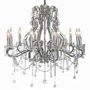 Pangea Home Isabella 10-Light Crystal Chandelier; Silver