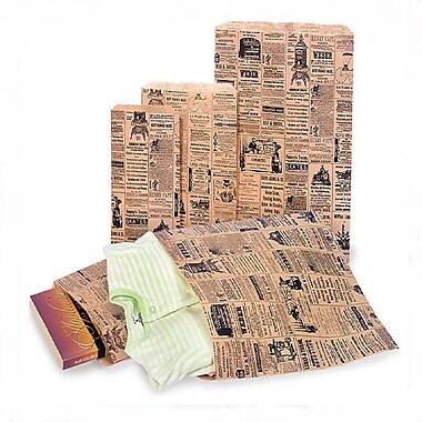 Nashville Wraps – Sac de magasinage imprimé à motif journal, tailles variées, paq./600