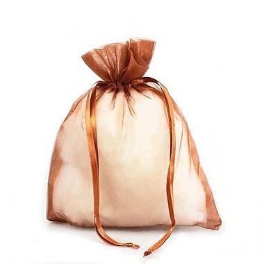 B2B Wraps – Sacs en organza avec cordonnets satinés, 3 x 4 po, cuivre, paq./20