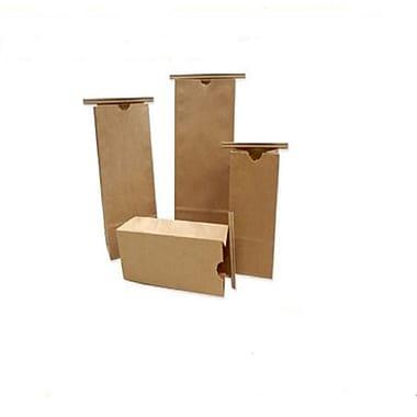 Nashville Wraps Paper Tin Tie Coffee Bags, Kraft, 1/2 lb, 3-3/8