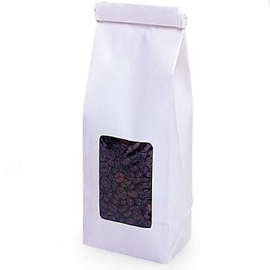 Nashville Wraps Paper Tin Tie Coffee Bags with Window, White, 1 lb, 4-3/4