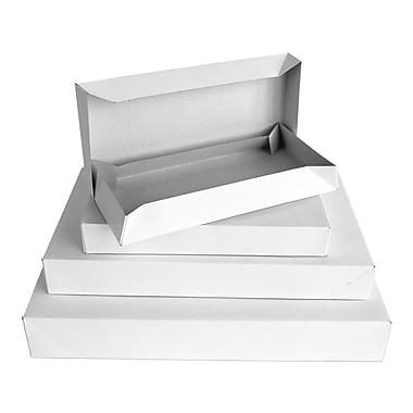 B2B Wraps – Boîtes à vêtements 2 pièces, blanc, 17 x 11 x 2 1/2 po, paq./25