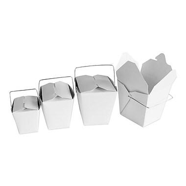 Unisource – Boîtes chinoises à emporter, 8 oz, 3 x 2 3/8 dessus (po) x 2 3/4 haut. (po), Kraft, 100/pqt