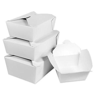 Unisource – Boîtes pour mets à emporter Bio-Pak, no 1, 5 x 4 1/2 x 2 1/2 haut. (po), blanc, 50/paquet
