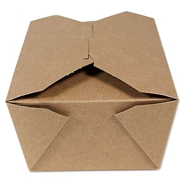 Unisource – Boîtes Bio-Pak à emporter, no 4, 8 3/4 x 6 1/2 dessus (po) x 3 1/2 haut. (po), Kraft, 40/pqt