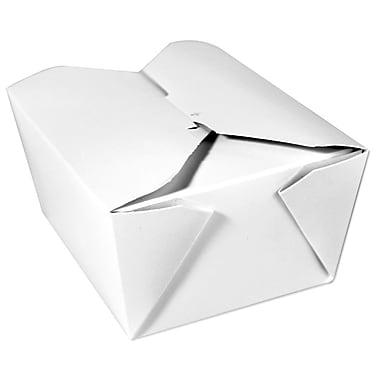 Unisource – Boîtes pour mets à emporter Bio-Pak, no 3, 8 1/2 x 6 1/4 x 2 1/2 haut. (po), blanc, 50/paquet