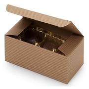 Nashville Wraps Chocolate Candy Boxes, Kraft Pinstripe, 25/Pack