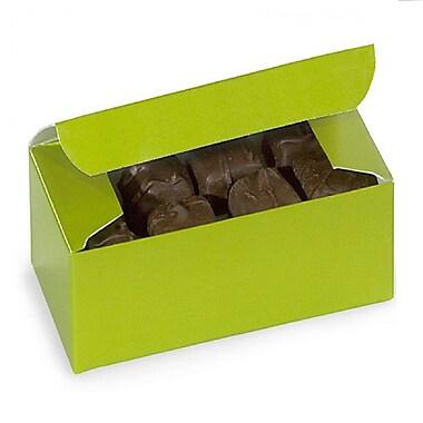 Nashville Wraps – Boîtes de chocolats 1/2 lb, 5 1/2 x 2 3/4 x 1 3/4 po, vert lime, 25/paquet