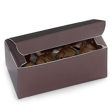 Nashville Wraps – Boîtes de chocolats 1 lb, 7 x 3 3/8 x 2 po, chocolat, 25/paquet