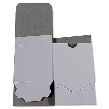 B2B Wraps Gloss White 1-Piece Gift Box, White, 12x6x6