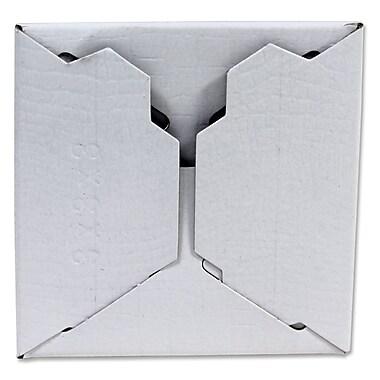 B2B Wraps - Boîte-cadeau une pièce, blanc lustré, 4 x 4 x 4 po, paq./25