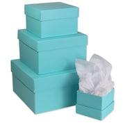 BoxCo – Boîtes-cadeaux avec couvercle, couleur unie, 4 x 4 x 3 1/2 (po), paq./8 ens.