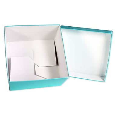 BoxCo Solid Colour Gift Boxes with Lids, Folding, 4 x 4 x 3-1/2