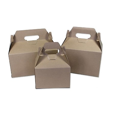 BOXit Gable Boxes Kraft on Kraft, 100% Recyclable, Kraft , 6 x 4 x 4