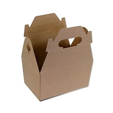 BOXit Gable Boxes Kraft on Kraft, 100% Recyclable, Kraft , 8 x 4-7/8 x 5-1/4